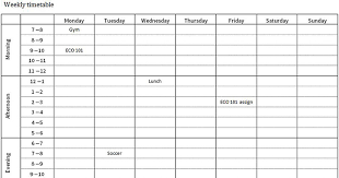 Weekly Timetable Planner Student Timetable Planner Magdalene Project Org