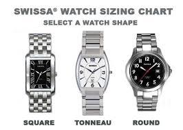 Watch Size Chart Watch Sizing Chart Swissa Jewelers