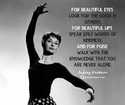 Audrey Hepburn Beauty Quote Best of Famous Audrey Hepburn Quotes Images SayingImages