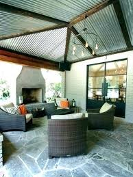 corrugated metal ceiling panels backyard bungalow with corrugated metal roof fisher designs steel ceiling garage corrugated
