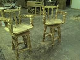 custom made custom rustic log and reclaimed barn wood bar stools