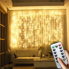 Waterfall Fairy Lights Uk Details About 300 Led Curtain Fairy Lights Usb String Hanging Wall Lights Party With Remote Uk