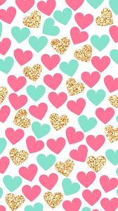 1242x2208 wallpaper lockscreen papel de parede plano de fundo background coraà à o coraà ões heart hearts pink gold