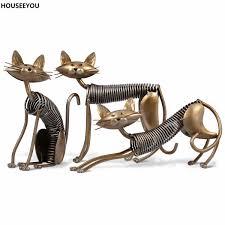 decor accessories homedecorcat iron art cat decoration crafts figurines miniatures furnishing ornamen