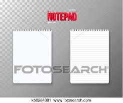 Notepad Template Clipart Of Vector Notepad Set Realistic Vector Empty Notepad