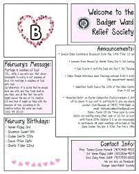 February Newsletter Template Valentines Newsletter Template