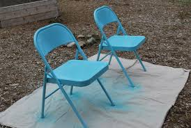 spray painting metal furnituremetal folding chairs  A Gathering Place