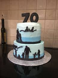 Father S Day Cake Design 70th Birthday Cake Silhouette Cake Fathers Day Cake Idea