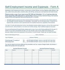 Examples Of Business Expenses Self Employment Ledger 40 Free Templates Examples