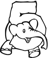 Small Picture Number 5 Coloring Page Coloring Pages Number Number Number