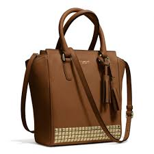 Lyst - Coach Legacy Mini Tanner Crossbody in Studded Leather in Brown