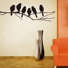 ... Paper Bird Wall Decor Wall Art Mural Decor Sticker Black Cute Birds On  The Branch Wall ...