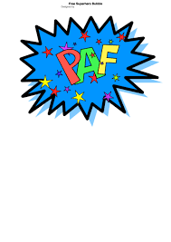 Word Bubble Templates Superhero Speech Bubble With Expression Paf Template