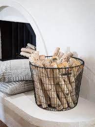 storage organization ideas using baskets wire blanket basket with rh alivegfx com log basket uk rustic log baskets