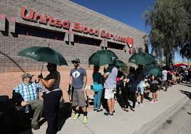 Lines And Designs Las Vegas Blood Donors From Around World Line Up In Las Vegas To Aid