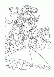 Sakura Manga Coloring Pages For Kids Printable Free Nailart