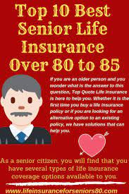 Run your own burial insurance quotes and start the process today. Top 10 Best Senior Life Insurance Over 80 To 85 Life Insurance For Seniors Life Insurance Policy Life Insurance Quotes