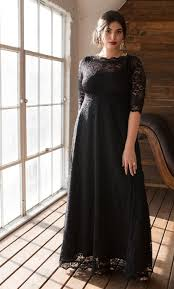 plus size long black dresses plus size evening gown leona lace gown kiyonna clothing