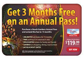 how much are busch garden tickets. 3 Months Free With An Annual Pass How Much Are Busch Garden Tickets