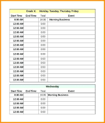 Schedule Word Time Schedule Excel Daily Template In Timetable Word