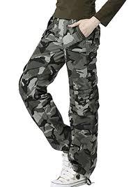 Amazon Com Gacchi56 Cargo Pants Camouflage Clothing Women