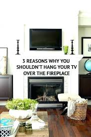 mount tv above fireplace mounting on brick how to television over