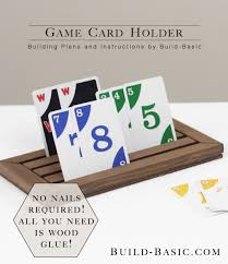 Wooden Game Plans Build a Game Card Holder ‹ Build Basic 82