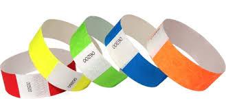 Браслеты контрольные tyvek с логотипом от производителя Контрольные браслеты