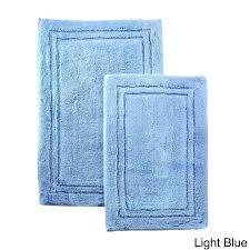 blue bath rug sets bathroom rug set bath mats cotton 2 piece home decor non slip