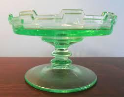 depression glass green dish unidentified pattern