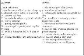 Buzz Lightyear Buzz Aldrin Comparison Contrast Vocabulary Crossword