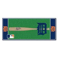 fanmats detroit tigers 3 ft x 6 ft baseball runner rug