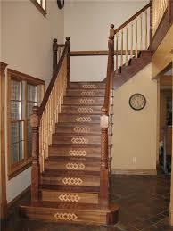 custom walnut staircase with decorative risers form wood floor by wicks walnut handrail oak