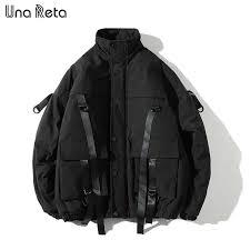 Una Reta Pu <b>Leather</b> Jacket <b>Men New Autumn</b> Zipper Streetwear ...