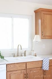 how to update oak kitchen cabinets on a budget