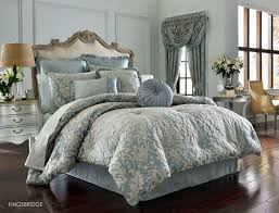 j queen new york kingsbridge french blue queen comforter set with 2 pillows