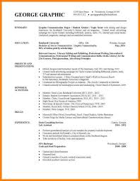 Undergraduate Student Cv Example Resume Examples For Undergraduate College Students