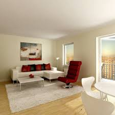 furniture for small flats. Glass Table Side Small Apartment Living Room Layout Black Rug Near White Wooden Kitchen Island Green Modern Swivel Chair Illuminate Led Recessed Lights Furniture For Flats Y