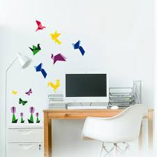 colorful origami wall decal stickers
