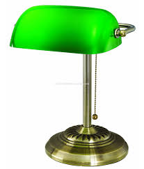 Culetl Metal Accents And Green Glass Shade Wantique Brass Finish Bankers Lampdesk Lamp Buy Modern Table Lampdesk Lampbankers Lamp Product