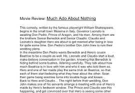 much ado about nothing movie review gcse english marked by document image preview