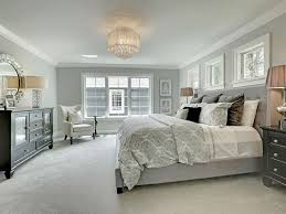 Traditional Master Bedroom with High ceiling, INSPIRE Q Kingsbury Grey  Linen Tufted Upholstered Platform Bed .