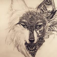 Working On This Spirit Animal Wolffox Design For A Tattoo