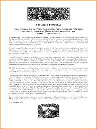 a modest proposal essays proposal template  6 a modest proposal essays