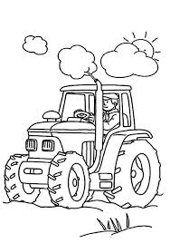 Small Picture Farmer is Working Tractor Coloring Page Download Print Online