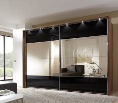 image mirrored sliding. Black Mirrored Sliding Wardrobe Doors Mirror Bedroom Gloss Image D
