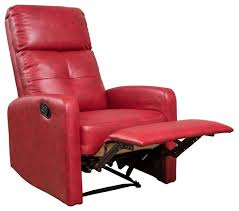 Remarkable Red Leather Club Chair With Teyana Red Leather Recliner Contemporary Red Chair