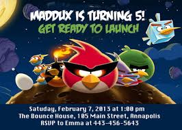 Space Party Invitation Angry Birds Space Birthday Party Invitation Printable