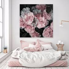 pink blooms square canvas art wall art art prints the by fairfax