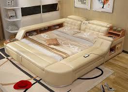 Beautiful 2018 Hot Sale New Moveis Para Quarto Modern Bedroom Set Furniture Massage  Soft Bed With Hifi
